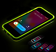 Call LED Blink Transparent TPU Back Cover Case For iPhone 4/4S(Assorted Colors)