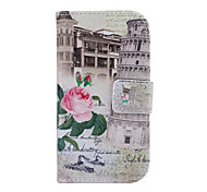 Fashion Pattern Design Pu Leather And The Card Slot Cell Phone Holster For Samsung S3 Mini I8190N