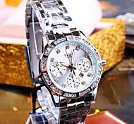 Mulheres Relógio de Moda Simulado Diamante Relógio Quartzo Quartzo Japonês Calendário Impermeável Metal Banda Brilhante Pendente Prata