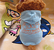 Dog Hoodies - XS / S / L / XL - Summer - Blue Polar Fleece