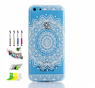 jet rond TPU mince de téléphone et de la poussière prise stylet creux transparent reposer association pour iphone 5c