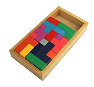 Wooden Puzzle Tetris Stereo Assembling Pan Domino