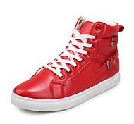 Sapatos Masculinos Botas Preto / Vermelho / Branco Courino Ar-Livre / Casual