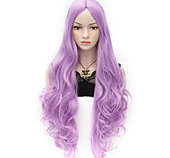 80cm U Party Curly Cosplay Party Wig Multi colors available Liac Light Purple