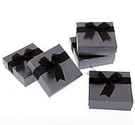 5pcs Black Square Bracelet Bangle Gift Box Case 3.5x1.3