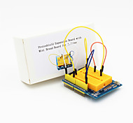 Protoshield Expansion Board with Mini Bread Board +Breadboard Jumper Cable Wires for Electronic DIY (65-Cable P)