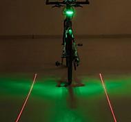 mountain bike de laser circular de advertência luzes traseiras LED (cor aleatória)