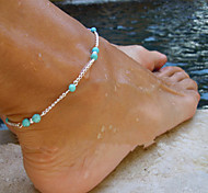 Fashion Beaded Turquoise Beads Anklets 1Pc