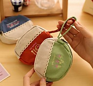 Simple Life Stylish Multi Color Canvas Coin Purse (Random Delivery)