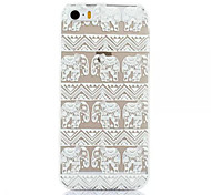 Elephant Pattern Plastic Hard Back Cover For iPhone 5c