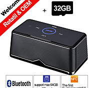 32GB TF Card Pindo W600 NFC Portable Stereo Bluetooth Speaker Play Music BT Card Read for Smartphone Sound Box Speakers
