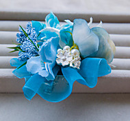 Fashion Blue Color Flower Wedding Or Party Hair Clip B0746N