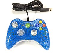 New USB Wired Gamepad Controller Joystick for Xbox 360 & Slim 360E & PC Windows Blue Crackle