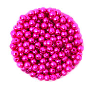 Beadia 100g(Approx 1000Pcs)  ABS Pearl Beads 6mm Round Fuchsia Color Plastic Loose Beads For DIY Jewelry Making
