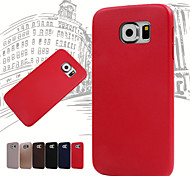 Slim Soft Case PU Material Phone Case for Samsung Galaxy S6 (Assorted Colors)