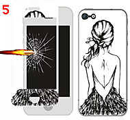 Front and Rear Toughened Cartoon Film for iPhone 6S/6 Plus(Assorted Colors)