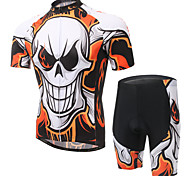 WEST BIKING® Men's Mountain Bike Clothing Suit Breathable Evil Fire Wicking Cycling Clothing Short Suit