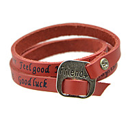 New Fashion Jewelry Multilayers Long Women Pu Leather Bracelet