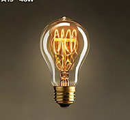 Lampade LED a incandescenza YouOKLight E26/E27 40 W Decorativo 400 LM Bianco caldo 1 pezzo AC 110-130 V