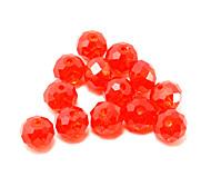 beadia 120pcs fashion Glas Facettenperlen 6x8mm flache runde Form roter Farbe diy Spacer lose Perlen