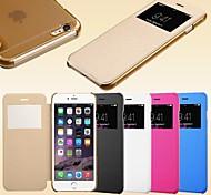 Smart view Bildschirm Touch pu Ledertasche für iPhone 6 (verschiedene Farben)