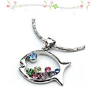 HUALUO®lovely Fish Diamond Necklace
