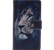Fashion Design COCO FUN® Black Lion Pattern Wallet Slot Full Body PU Leather Case for Samsung Galaxy S4 I9500