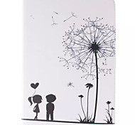 Two Children Picture PU Leather Full Body TPU Case with Card Holder for Samsung Galaxy T800 /Tab S