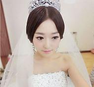 Crystal Crown Tassel Tiara Hair Flower Bride Hair Wedding Headdress Wedding Accessories One Piece