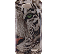 White Tiger Pattern TPU Soft Case for LG 90