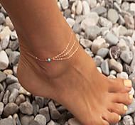bohemien cavigliera turchese sandali a piedi nudi dei monili 1pc sposa cavigliera