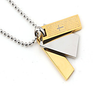tres piezas plaza biblia colgante de titanio de acero (azul / negro / oro) (1pc)