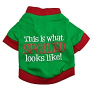 """Stylish """"This is what SPOILED looks like"""" Pattern T-Shirt for Pets Dogs (Assorted Colors, Sizes)"""
