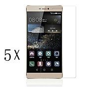 [5-Pack]Professional High Transparency LCD Crystal Clear Screen Protector with Cleaning Cloth for Huawei P8