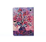 Oil Painting Vase PU Leather Full Body ABS Case with Holder for Samsung Galaxy T800 /Tab S 10.5
