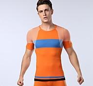adequação de esportes t-shirt material de função masculina t-shirt shapewear apertada elástica (cores e tamanhos variados)
