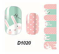 Fashion Rabbit Nail Art Glitter Sticker
