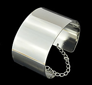 New Fashion Punk Style Silver Plated Chunky Bracelet Cuff