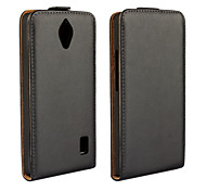 Protective Genuine Leather Magnetic Vertical Flip Case for Huawei Ascend Y635