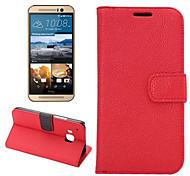 полноценно личи зерна пу кожаный бумажник владельца карты раскладушка кобуры для HTC M9 (ассорти цветов)
