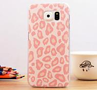 léopard rose conception spéciale de couverture plastique pour le bord de samsung galaxy