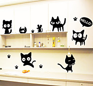 Wall Stickers Wall Decals,Black Cats PVC Wall Stickers