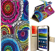 Colorful Circles Pattern with Card Bag Full Body Case for Samsung Galaxy S5 I9600