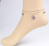 Fashion Bilayer  Beauty Head Anklet