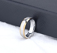 Z&X® Men's Party/Casual Fashion Titanium Steel Wide Rings