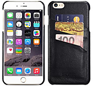 Lichee Pattern Genuine Leather Case And Card Slot For Apple iPhone6 4.7 Inch