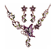 Butterfly in Love Exquisite European Style Fashion Short Necklace Earring Set