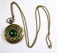 Fashion Round Shaped High Density Organic Glass  Green Cat Large Pocket Watch(Bronze)(1Pc) Cool Watches Unique Watches