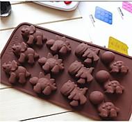 muffa moda torta al cioccolato gelatina decorazione bakeware stampo cucina del sapone di strumenti di cottura dessert (colore casuale)