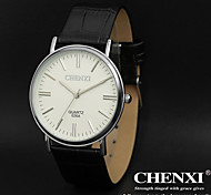 CHENXI® Men's Dress Watch Simple Design Black Leather Strap Wrist Watch Cool Watch Unique Watch
